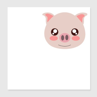 I Love Pigs - Poster 20x20 cm