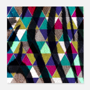 Serengeti Colorful triangles - Poster