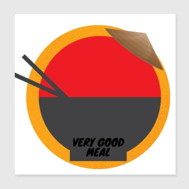Very good meal - Poster 20 x 20 cm