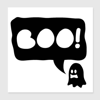 Halloween Ghost Boo - presentidé - Poster 20x20 cm