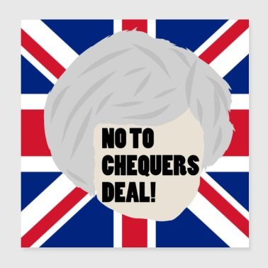 NON AUX CHECKERS DEAL! - Poster 20 x 20 cm