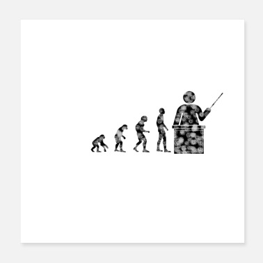 Evolution Lehrer Evolution - Poster 20x20 cm