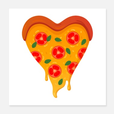 Love Heart Pizza Love Heart - Poster