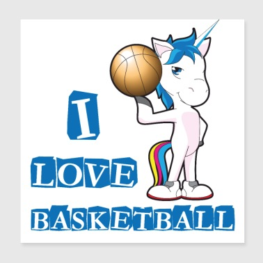 Playing basketball - Poster 20x20 cm
