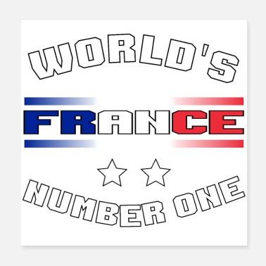 Fanshirt Fanshirt France 2 stars World's Number One white - Poster