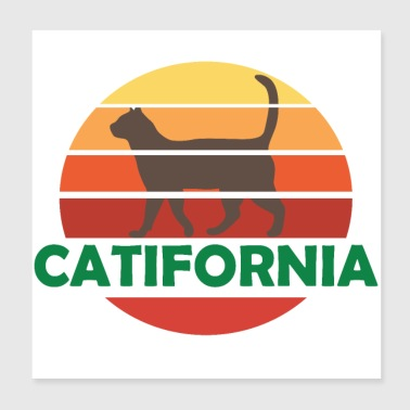 Chats USA Californie - Poster 20 x 20 cm