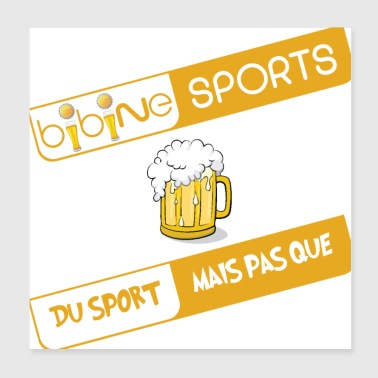 Bibine Sport - For sports TV - Poster 20x20 cm