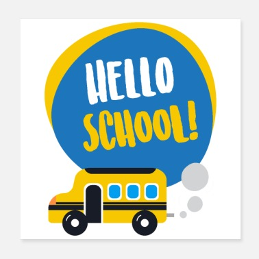 Folkeskolelærer Hello School First Day School gaveide - Poster