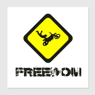 Freedom - Poster 20x20 cm