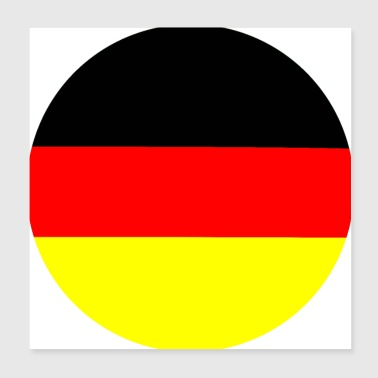 Germany circle - Poster 20x20 cm