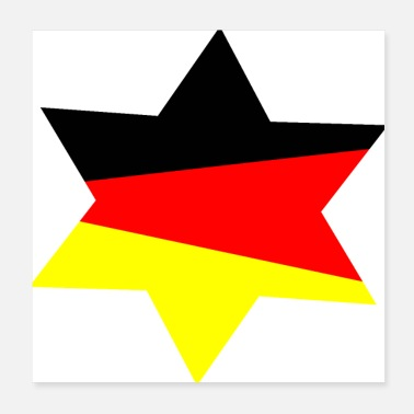European Champion Germany star - Poster 20x20 cm
