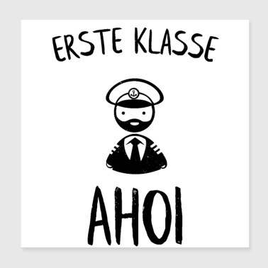 First class Ahoi captain back to school - Poster 20x20 cm