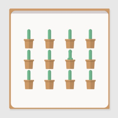 Cactus image of one in tail shape TShirt - Poster 20x20 cm