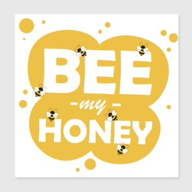 Bees honey word game - Poster 20x20 cm