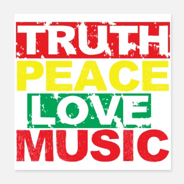 Global Peace Music peace love truth - Poster
