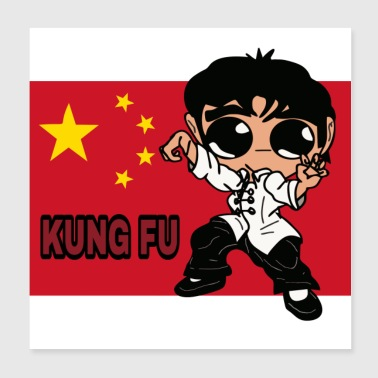 KUNG FU - Poster 20x20 cm