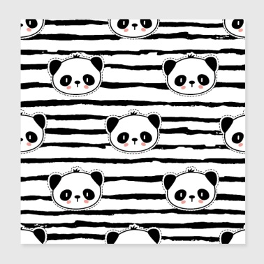 Panda Pattern Pop Art Pattern - Poster 20x20 cm