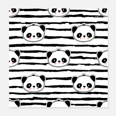 Rentrée Des Classes Motif Panda Motif Pop Art - Poster 20 x 20 cm