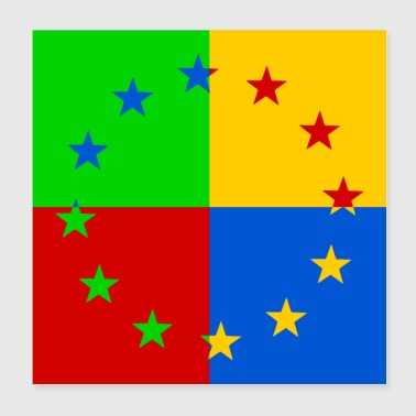 Europe star pop art - Poster 20x20 cm