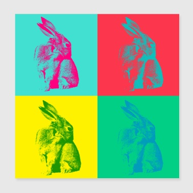 Sweet Bunny Shy in stile Pop Art - Idea regalo - Poster 20x20 cm