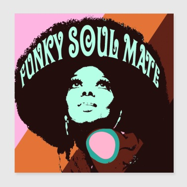 funky soulmate - Poster 20x20 cm