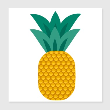 Pineapple vegan healthy pineapple - Poster 20x20 cm