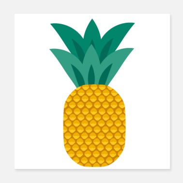 Healthy Pineapple vegan healthy pineapple - Poster 20x20 cm