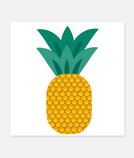 Fruit Posters - Pineapple vegan healthy pineapple - Posters white