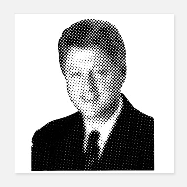 Presidents Pixelated Celebrities Bill Clinton President USA - Poster