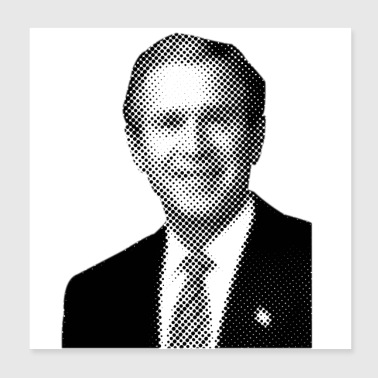 Pixelated Celebrities Bush President USA Amerika - Poster 20x20 cm