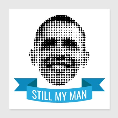 Pixelated celebrity Barack Obama nog steeds mijn man - Poster 20x20 cm