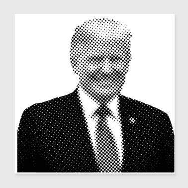 Pixelated Celebrities Trump Präsident lächelnd - Poster 20x20 cm