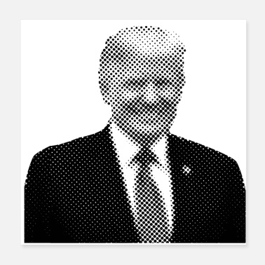 Presidents Pixelated celebrities Trump president smiling - Poster