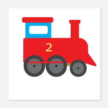 Transport Train de train locomotive à vapeur train pour enfants T-shirt - Poster 20 x 20 cm