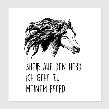 Horse Shirt • My Horse • Rider Gift - Poster 20x20 cm