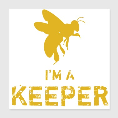 Beekeeper gift for bee lovers - Poster 20x20 cm