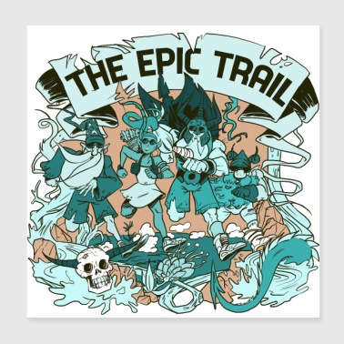 The Epic Trail - Poster 20 x 20 cm