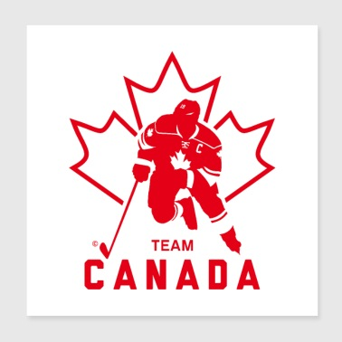 TEAM CANADA MAPLE LEAF - Poster 20x20 cm