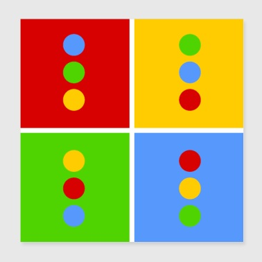 Traffic light pop art - Poster 20x20 cm