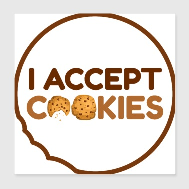 I accept cookies - Poster 20x20 cm