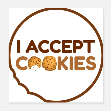 Tooth I accept cookies - Poster 20x20 cm