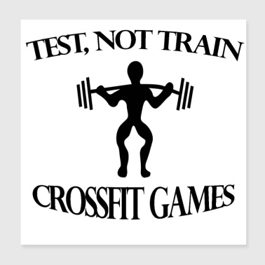 fit games to train - Poster 20x20 cm