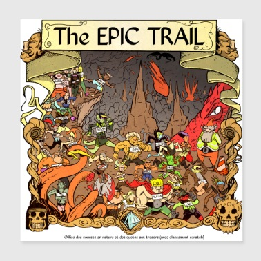 Treasure The Epic Trail 2 - Poster 20x20 cm