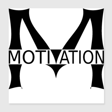 Motivation Logo. - Poster 20x20 cm