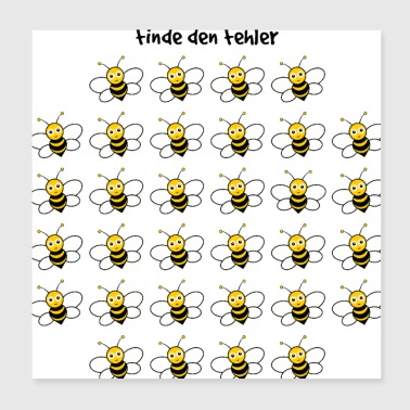 Puzzle troubleshooting with bees - Poster 20x20 cm