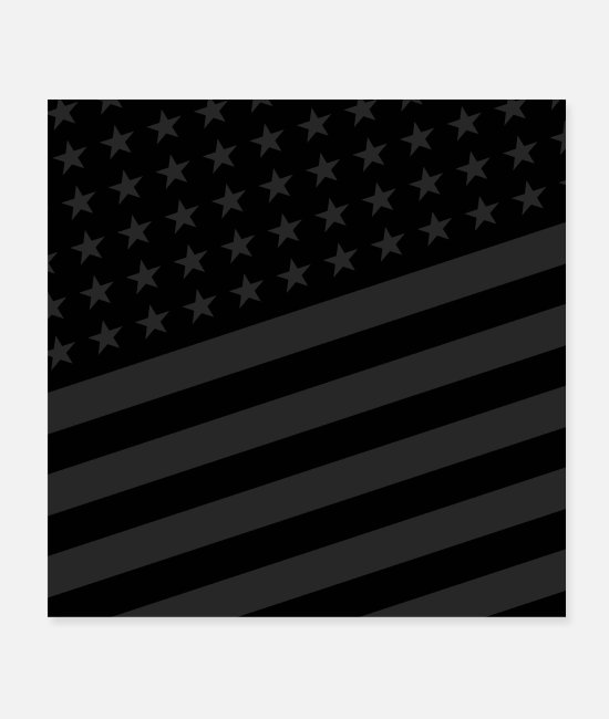San Francisco Posters - USA BLACK STARS AND STRIPES - Posters white
