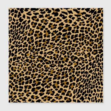 Leopard LEOPARD PATTERNS, ANIMALPRINT - Poster 20x20 cm