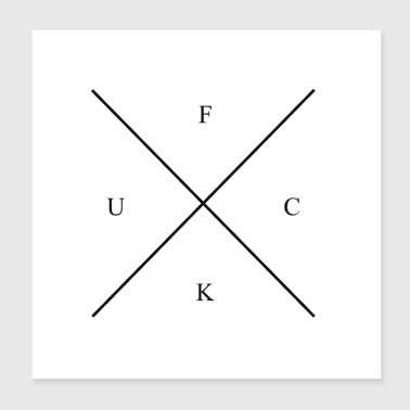 mill cross: FUCK - Poster 20x20 cm