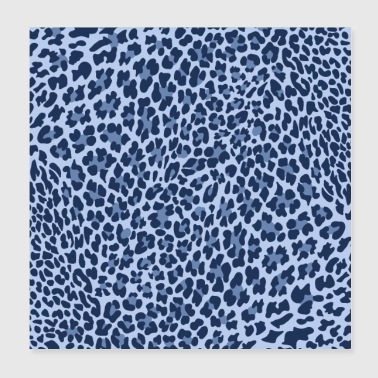 LEOPARD-sarja BLUE, ANIMALPRINT - Juliste 20 x 20 cm