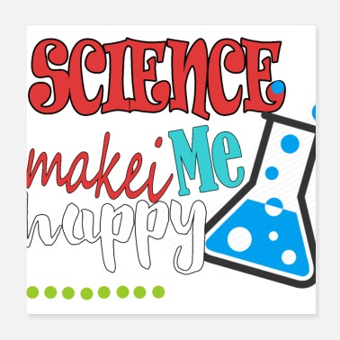 Science love science - Poster 20x20 cm